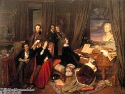 Personen / Musiker / Liszt / am Klavier