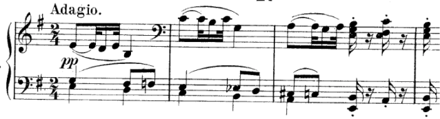 Opening of Dvorak's Symphony No. 9 in E minor